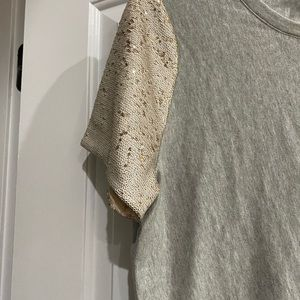 Tops - Shirt with sequin sleeves